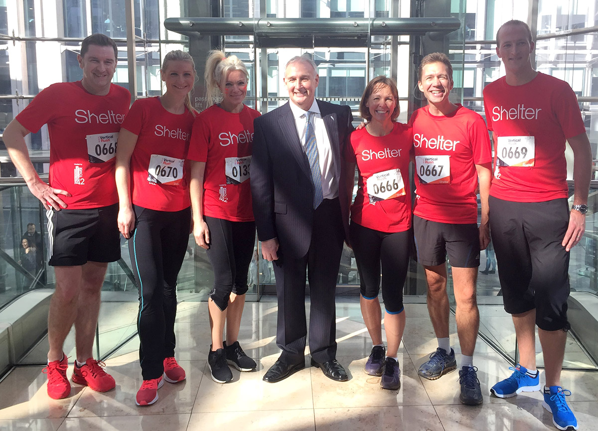 Vertical Rush challenge at Tower 42