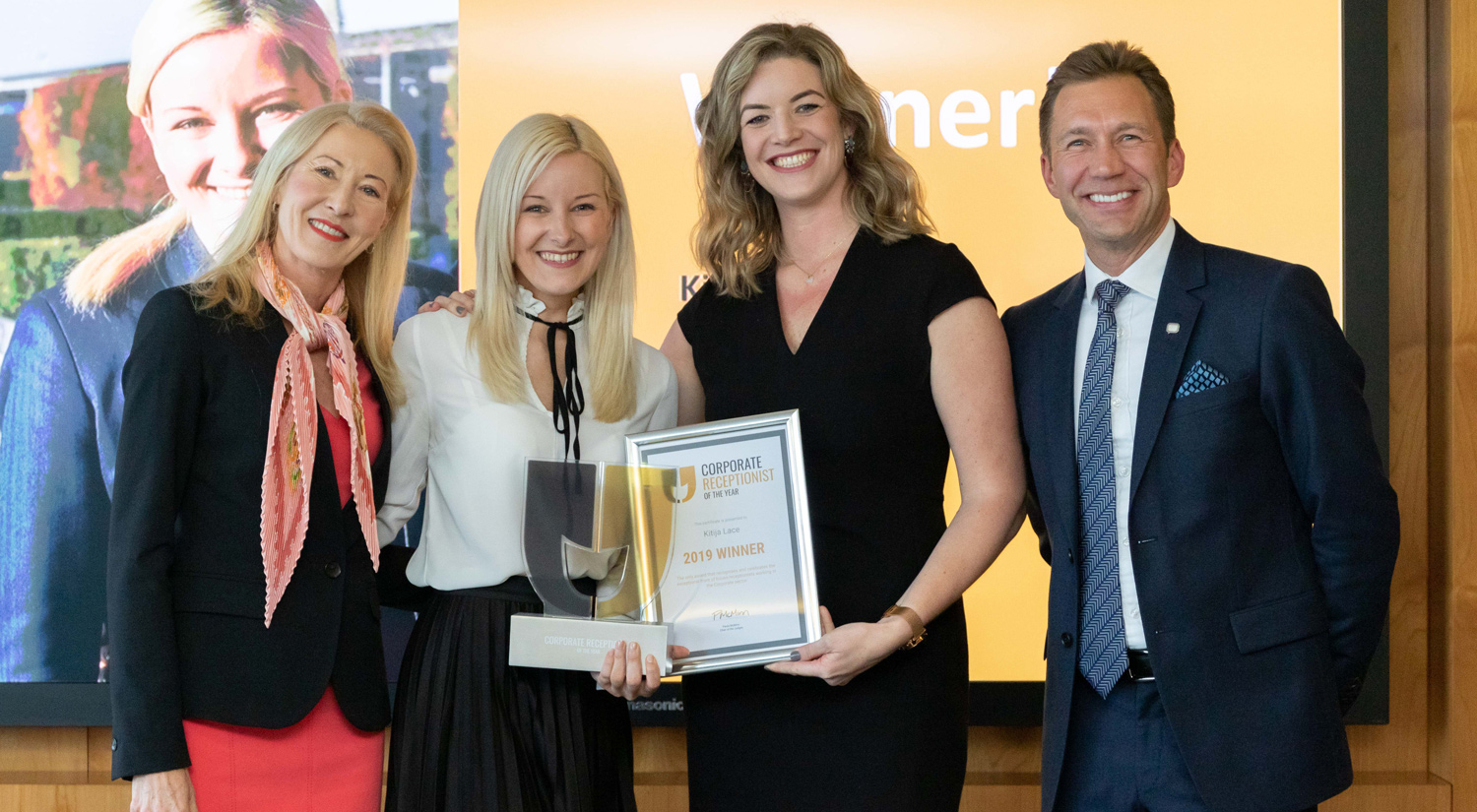 Kitija Lace wins Corporate Receptionist of the Year 2019